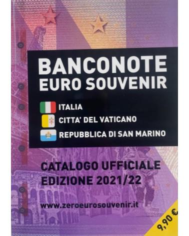 Catalogue  banconote euro souvenir 2021/2022