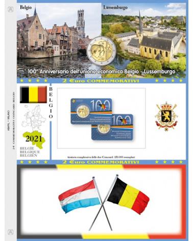 2€ blister Belgio 2021 Economic Union single