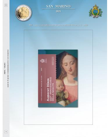 Aggiornamento 2€ San Marino 2021 550° pittore Durer