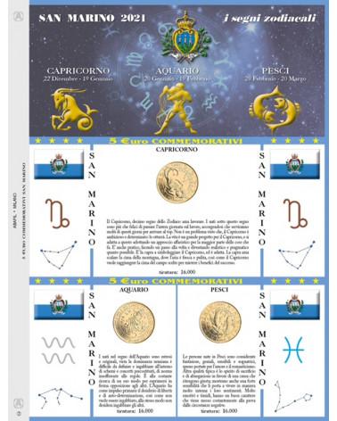 UPDATE 5€ SAN MARIN ZODIAC 2021 CAPRICORN, AQUARIUS, FISH