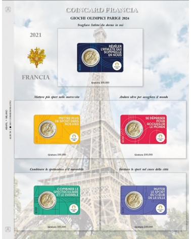 2 euro aggiornamento Francia 2021 giochi olimpici 2024