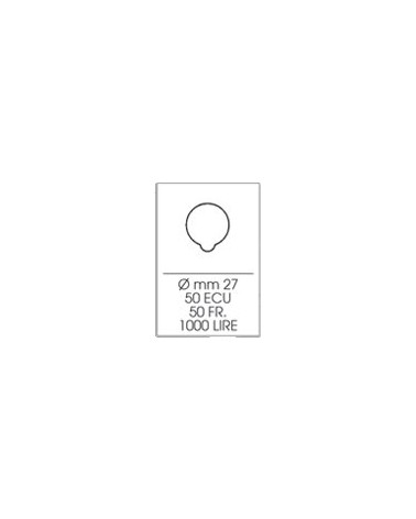 Astuccio Moneyfloc singolo - diam. 27 mm
