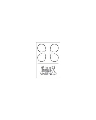 Moneyfloc - scatola 10 astucci - diam. 22 mm, 4 monete