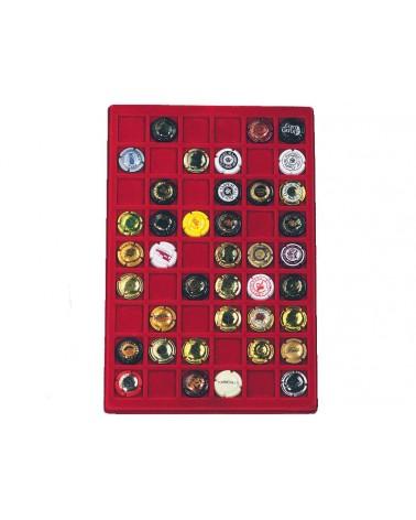 Ripiano standard floccato rosso a 54 caselle