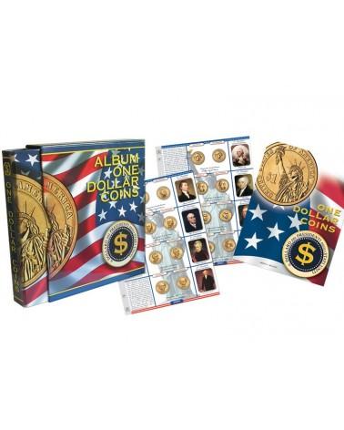 One Dollar Coins - Cartella vuota con custodia