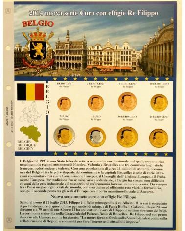 Foglio EuroMoney Belgio 2014 - Nuova effigie - Re Filippo