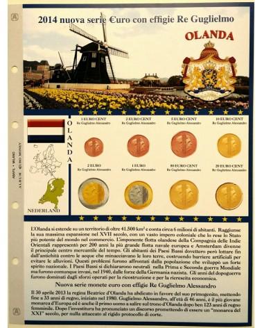 Foglio EuroMoney Olanda 2014 - Nuova effigie - Re Guglielmo