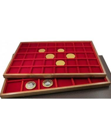 Ripiano Standard Legno - Modello velluto rosso - 40 caselle