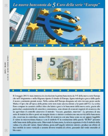 Foglio per banconota 5 Euro