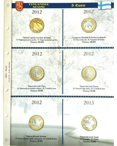 5 € Finlandia - Natura del Nord e altre emissioni 2012/2013