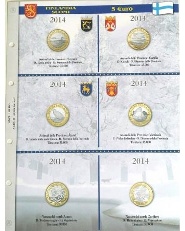 5 € Finlandia - Conf. 1 fg.- Natura del Nord e animali 2014