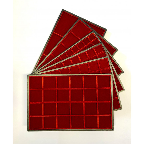 RED CLASSIC VELVET TRAYS