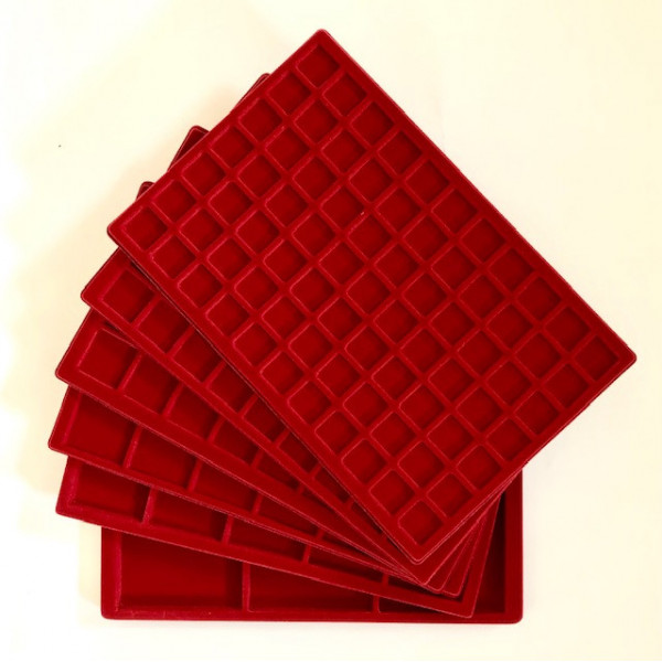 STANDARD RED FELT TRAYS
